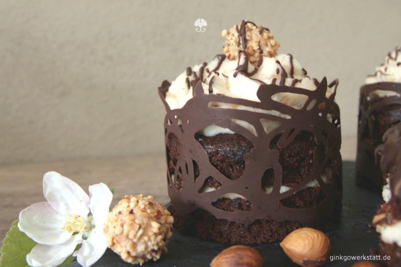 Küchenliebe Hamburg ~ mini schokoladen giotto törtchen ~ ginkgowerkstatt