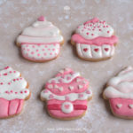 "Royal Icing Kekse ""Pink Cupcakes"""