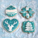 "Royal Icing Kekse ""Teal Christmas"""