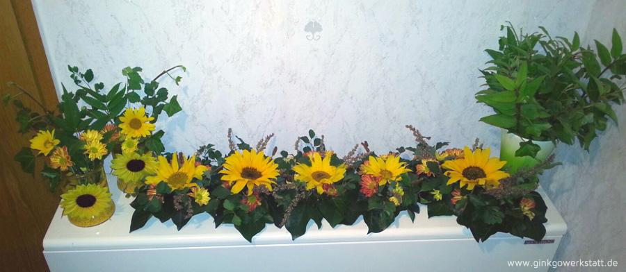 Sonnenblumen Efeu Und Schokolade Ginkgowerkstatt