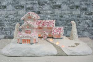 Pink Winterwonderland - Lebkuchenhaus
