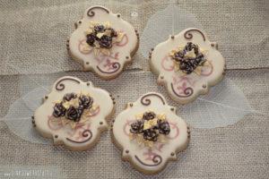 "Royal Icing Kekse ""Golden Birthday - Gäste"""