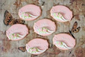 "Royal Icing Kekse ""Pink Roses"""