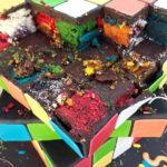 Rubik Torte zerstört