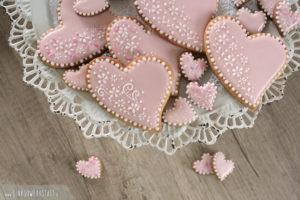"""Royal Icing Kekse """"Valentinstag"""""""