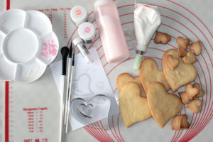 Herzkekse zum Valentinstag